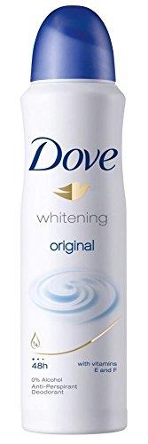 Dove Original Whitening Anti Perspirant Deodorant Spray 48hr Protection 169 Ml 5.7oz Pack of 1