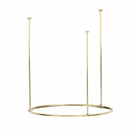 "Renovator's Supply Shower Curtain Rod Brass Round 32"""