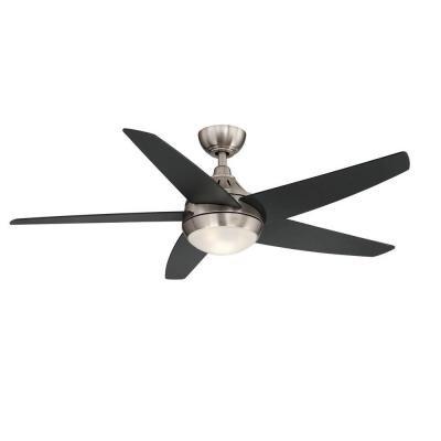 Hampton Bay Etris 52 in. Brushed Nickel LED Ceiling Fan