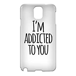 Loud Universe Samsung Galaxy Note 3 3D Wrap Around Addicted To You Print Cover - White