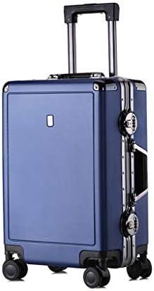 BXDYA 旅行スピナー荷物のトロリーケースユニバーサルホイールアルミフレームスーツケース税関ロックハイグレード荷物 (Color : E)