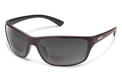 Suncloud Sentry Polarized Bi-Focal Reading Sunglasses in Burnished Brown/Grey +2.25 by Suncloud