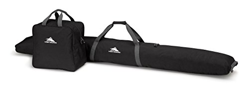 (High Sierra Ski Bag & Ski Boot Bag Combo  Bundle - Black / Mercury)