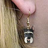 Conversation Concepts Schnauzer Gray Earrings Hanging