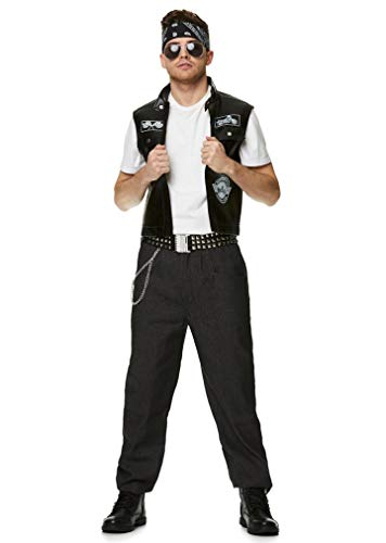 Men's Biker Costume - for Halloween, Costume Party Accessory - Medium