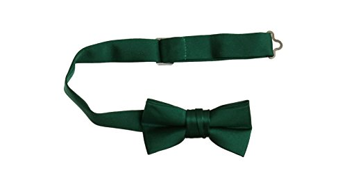 Hunter Green Pre Tied Bow Tie with Adjustable Neck Strap, Boys and Men Sizes (Boys) (Hunter Tie Green Bow)