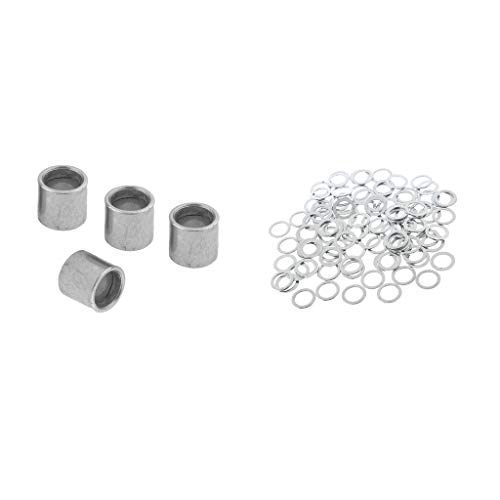 CUTICATE Skateboard Speed Kit 100pcs Bearing Spacers and 4pcs Speed Washers for Longboards, Scooter, Cruiser Accessories (Scooters Spacers)