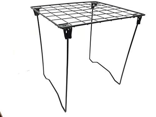 Midnight Black Locker Shelf - Foldable Stac Mate Shelf for Office, Home or School by Locker Room