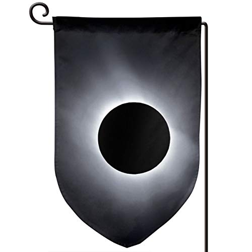 VASYLLAPTIEV Garden Flags 2017 Total Solar Eclipse Home Flags Double-Sided Printed Double Layer Outdoor- Fillet, Sharp Corner, Square]()