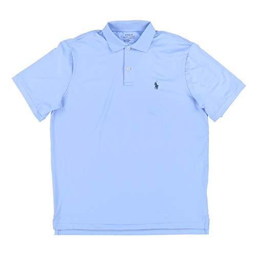 Polo Ralph Lauren Mens Performance Interlock Polo Shirt (XX-Large, Light Blue)