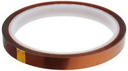 H-E Multy-Size 3D Sublimation Kapton Tape Heat Resistance Tape for Heat Press Transfer Printing High Temperature Polyimide Film Adhesive Tape 25mm X 100FT