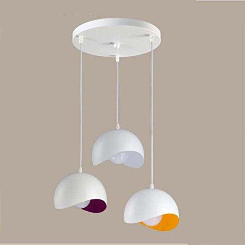 Lámpara colgante de la personalidad, 3 cabeza lámpara geométrica semicircular del arte geométrico, lámpara colgante de...