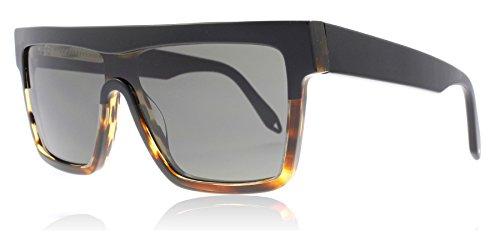 Victoria Beckham VBS99 C03 Black / Tort Flat Top Visor Square Sunglasses Lens C