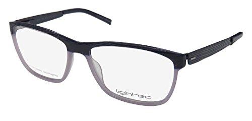 Lightec By Morel 7759l Mens/Womens Designer Full-Rim Shape Spring Hinges Hand Made Popular Shape Sleek Eyeglasses/Spectacles (52-15-135, ()
