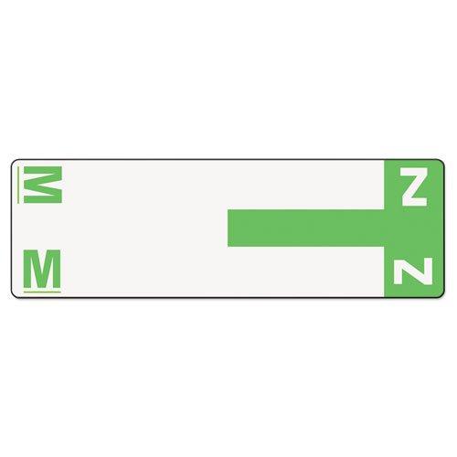 Smead AlphaZ NCC Color-Coded Label, M&Z, Label Sheet, Light Green, 100 per Pack (67164)