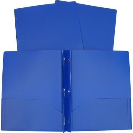 Generic Pocket Folder with Prongs - 8 Pack Folders