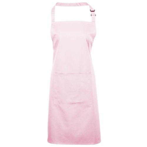 Premier Workwear Colours Bib Apron with Pocket, Top para Mujer Rosa