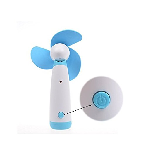 YOUTO Creative Personal Hand-held Portable Mini Air Fan for Home and Travel-Blue by YOUTO