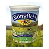 Stonyfield Farm Organic Low Fat French Vanilla Yogurt, 32 Ounce - 6 per case.