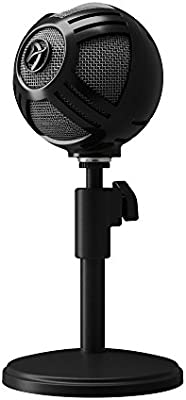 Black Arozzi Sfera PRO USB Microphone for Gaming /& Streaming