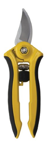 (Dramm 18043 ColorPoint Bypass Pruner with Stainless Steel Blade, Yellow)