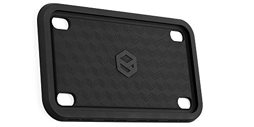 Rightcar Solutions Motorcycle Silicone License Plate Frame - Rust-Proof. Rattle-Proof. Weather-Proof. - ()