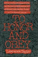 To Honor and Obey Hardcover