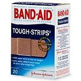 Flexible Fabric Adhesive Tough Strip Bandages, 1 x 3-1/4, 20/Box, Sold as 1 Box