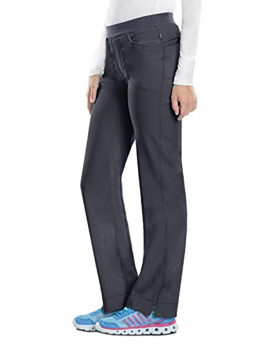 - Cherokee Infinity 1124A Low Rise Slim Pull-on Pant Pewter S Tall