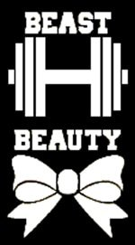 Beauty And The Beast Crossfit White Decal Vinyl Sticker|Cars Trucks Vans Walls Laptop| White |5.5 x 3 (Beauty Beast Decal)
