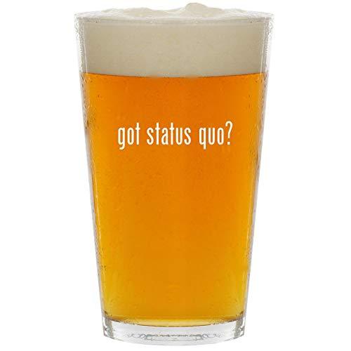 got status quo? - Glass 16oz Beer Pint (Status Quo Bula Quo)