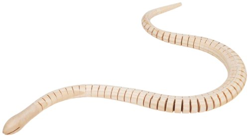 Darice 19X5 Inches Unfinished Wood Wiggle Animal Snake -