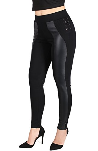 Black Leather Pants For Women - 9