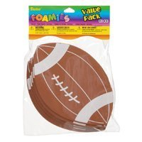 Foamies Footballs -1 Pack of 10 - 5.5 Inches X 3.5' Inches