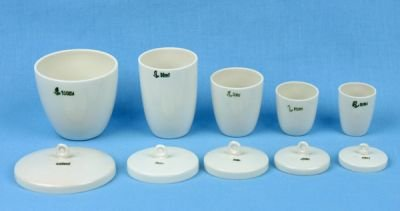 Porcelain Crucible Set with Lids (5 pcs)