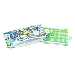 Bumkins Disney Baby Reusable Snack Bag Small 2 Pack, Monsters Inc. (Gray/Blue) (Baby Monsters Inc)