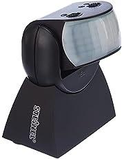 STEINEL Sensorschakelaar IS 1 voor binnen en buiten, bewegingsmelder, PIR-sensor, registratiehoek van 120°, reikwijdte van 10 m, IP54, zwart