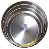 Round Stainless Steel Pan 16 in. diam., 3 in. deep
