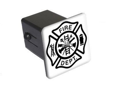 Cover Iron Cross (Fire Department Iron Maltese Cross Tow Trailer Hitch Cover Plug Insert 2