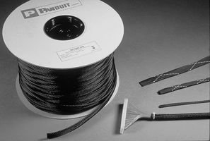 PANDUIT SE75P-CR0 SLEEVING, EXPANDABLE, 19.1MM, BLACK, 100FT