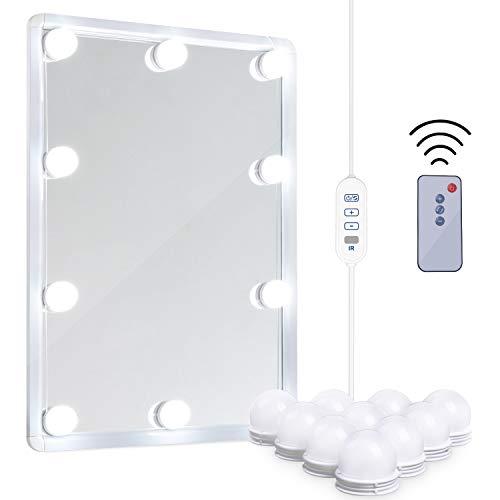 LED Vanity Mirror Lights Kit - MRah Remote Controlled Makeup Mirror Lighting -
