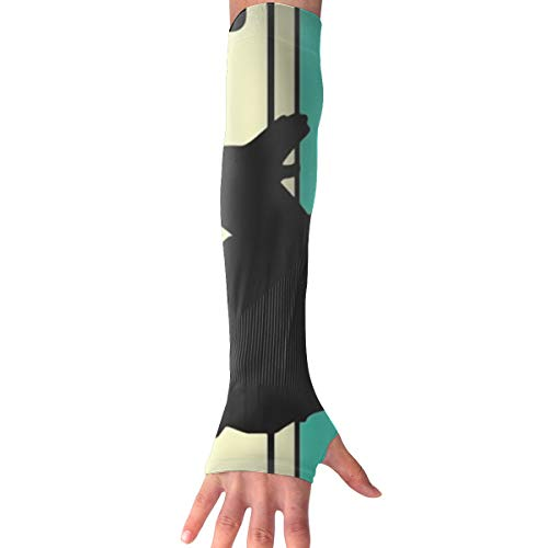 Horizon-t Arm Sleeves Skydiving Silhouette Outdoor Athletic Protective Sleeve Long Sleeves Glove ()