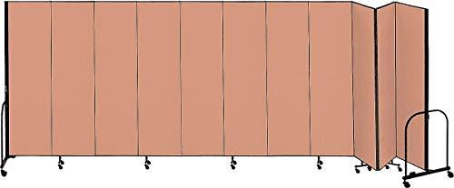 (Screenflex 20 ft. 5 in. x 5 ft., 11-Panel Portable Room Divider, Beige - CFSL5011 BEIGE)