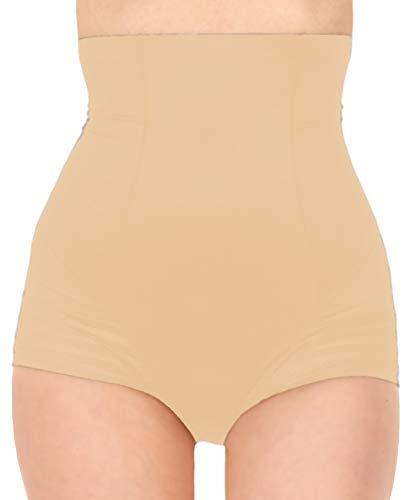 - Black Fuchsia by Secret Lace Tummy Control High-Waisted Shaper Panties Women Body Shapewear, Nude Beige Medium