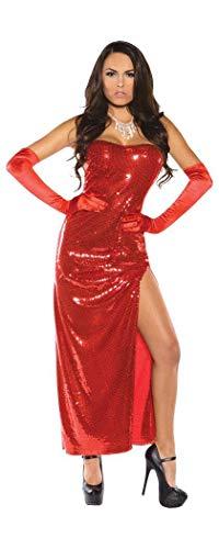 Underwraps Women's Sexy Bombshell Costume Sequin Dress, Red, Medium ()