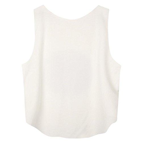Nouvelle arrivee!!! Amlaiworld Femmes Crop T-shirt Débardeur Emoji Vest Chemisier sans manches Cartoon