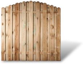 6 x Madera de valla de jardín (+ cañizo sintético en medida 180 x 180 a 160 cm (Ancho x Altura)