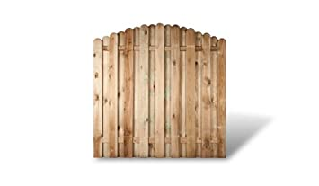 Amazon De Meingartenversand De 6 X Gunstiges Holz Gartenzaun