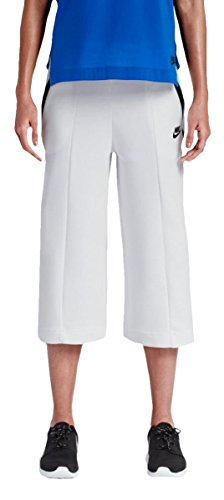 Nike Women's Tech Fleece Capri Culottes Shorts 811679-100 (Medium, White)