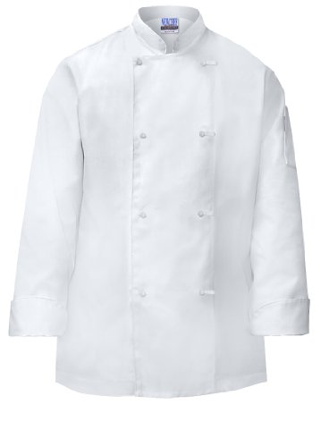 Newchef Fashion White Basic Mens Chef Coat Knots Buttons S White